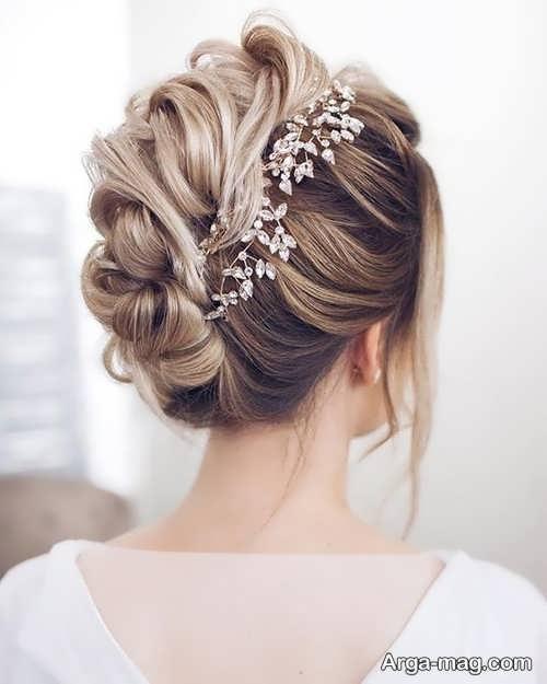 مدل مو خاص و ساده برای عروس