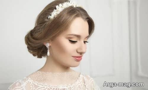 مدل مو بسته عروس با تاج