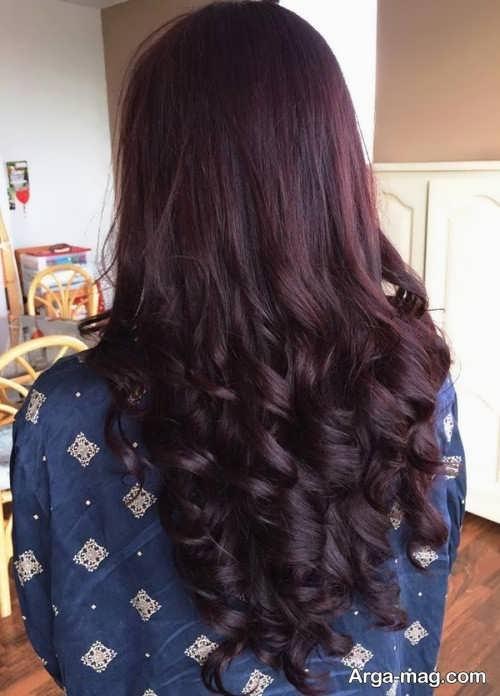 رنگ موی شیک و جدید شرابی