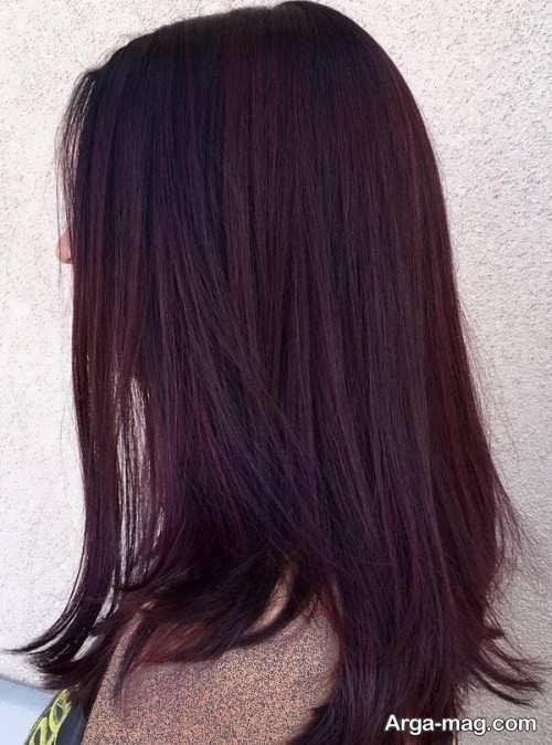 رنگ مو زنانه شرابی