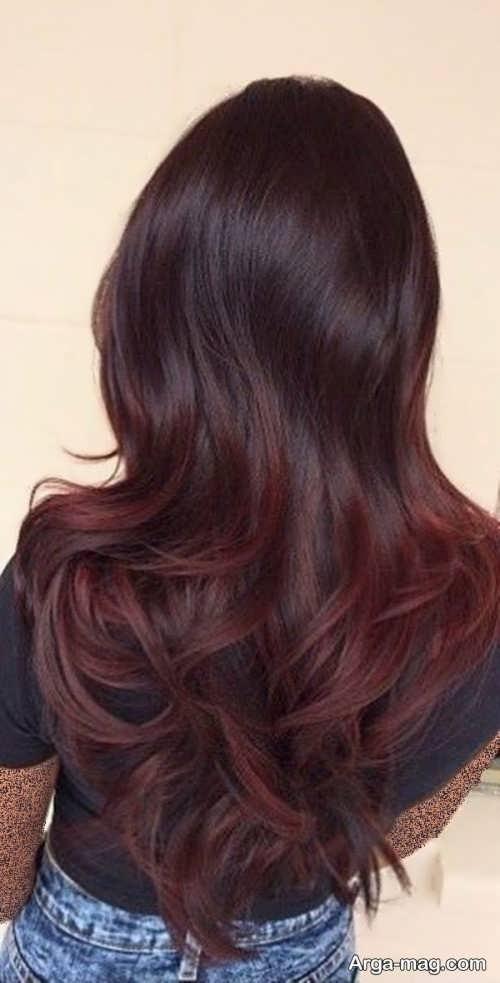 رنگ موی زیبا و شیک شرابی تیره
