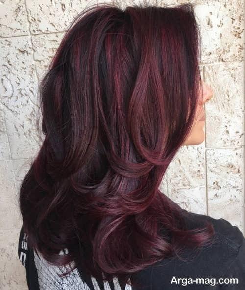 رنگ موی زیبا و جدید شرابی تیره
