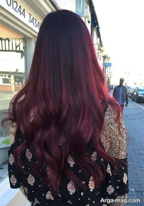 رنگ مو زیبا و جدید شرابی