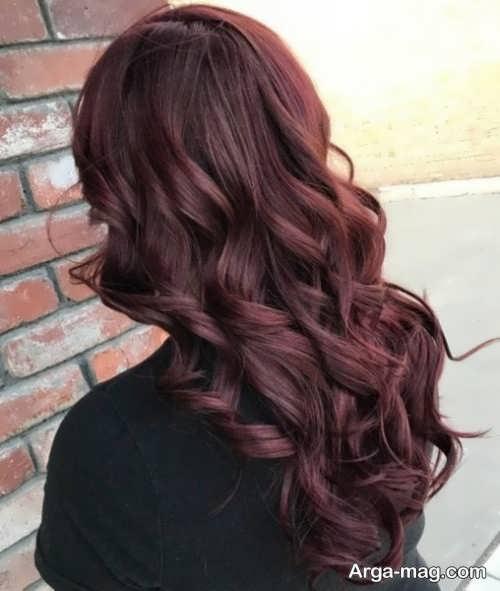 رنگ موی زیبا و تیره شرابی