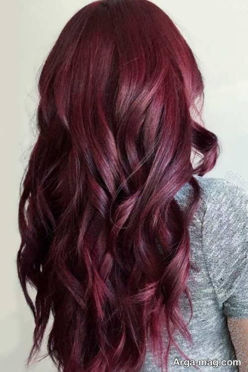 رنگ موی زیبا شرابی