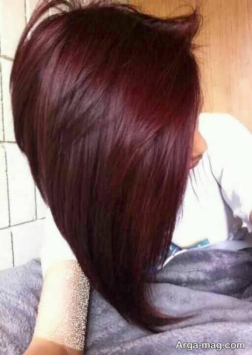 رنگ موی دخترانه شرابی
