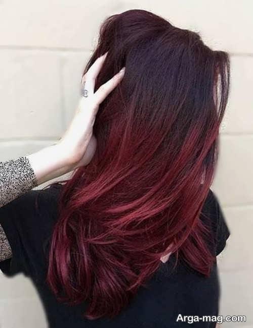 رنگ موی دخترانه شرابی تیره