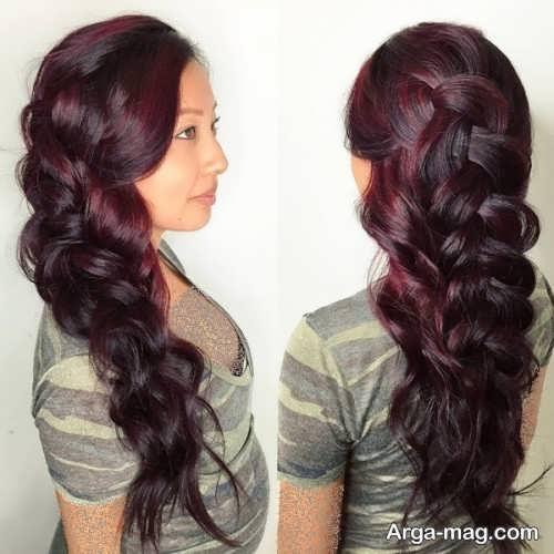 رنگ موی تیره شرابی