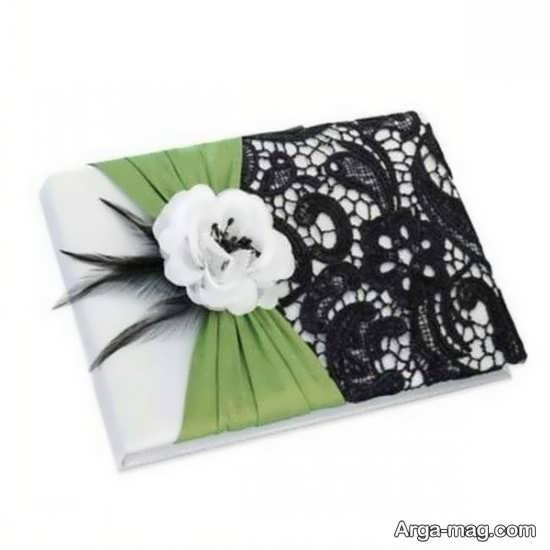 تزیین جلد دفتر خاطرات با گل