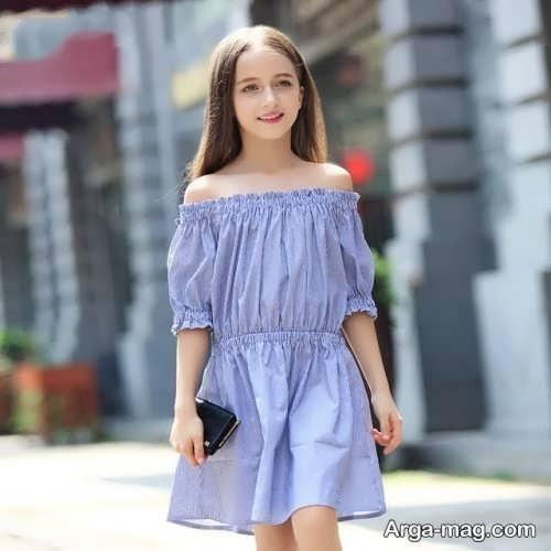 مدل پیراهن مجلسی کوتاه دخترانه