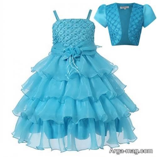 لباس مجلسی آبی دخترانه