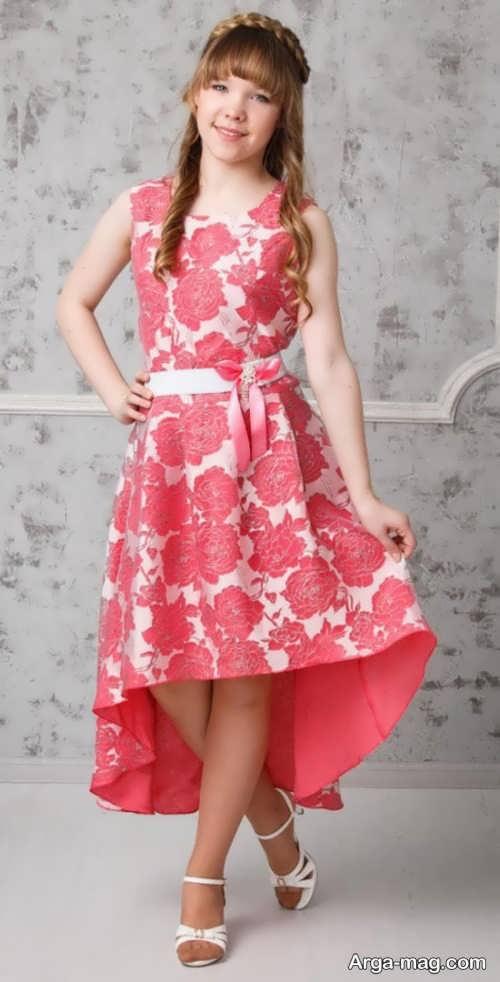 مدل لباس مجلسی دخترانه گلدار