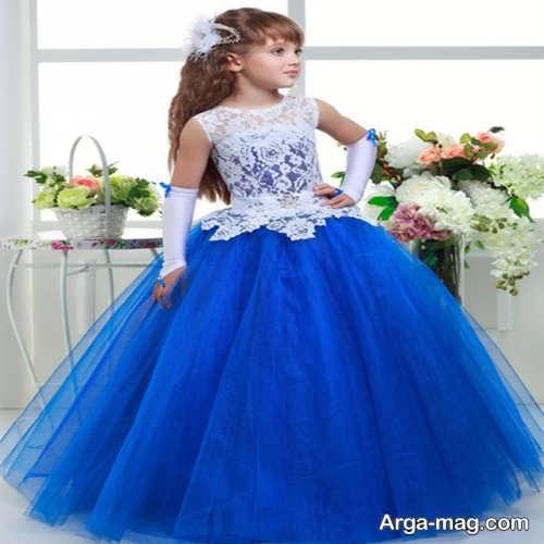 مدل لباس مجلسی کار شده دخترانه