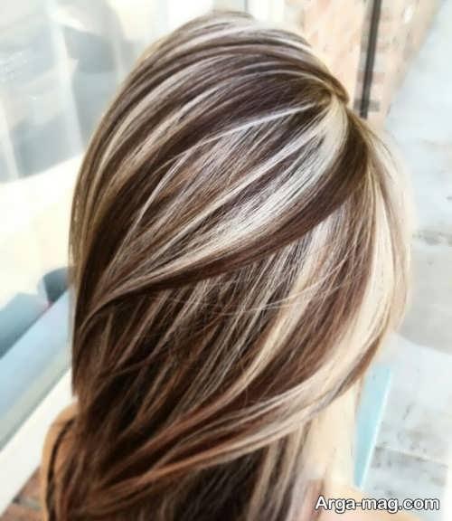 رنگ مو نسکافه ای با هایلایت
