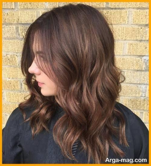 رنگ موی زیبا و شیک نسکافه ای