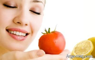 ماسک گوجه فرنگی و لیمو