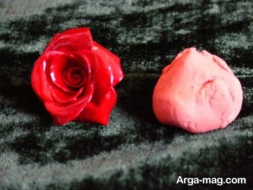 ساخت گل رز با خمیر چینی