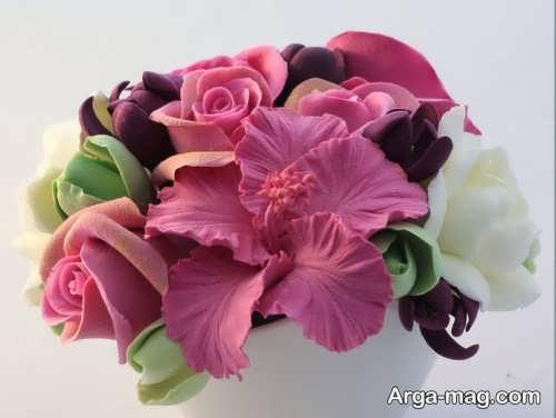 ساخت گل با خمیر چینی