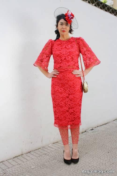 مدل لباس مجلسی گیپور کوتاه