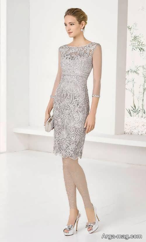 لباس مجلسی کوتاه و زیبا گیپور