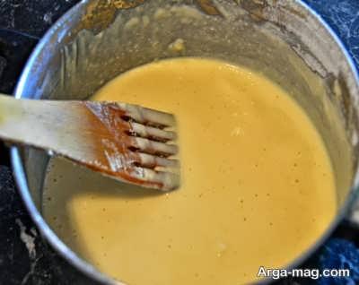 مراحل تهیه کیک تابه ای