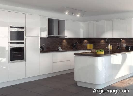 دکوراسیون آشپزخانه با رنگ سفید