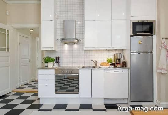 دکوراسیون داخلی آشپزخانه با رنگ سفید