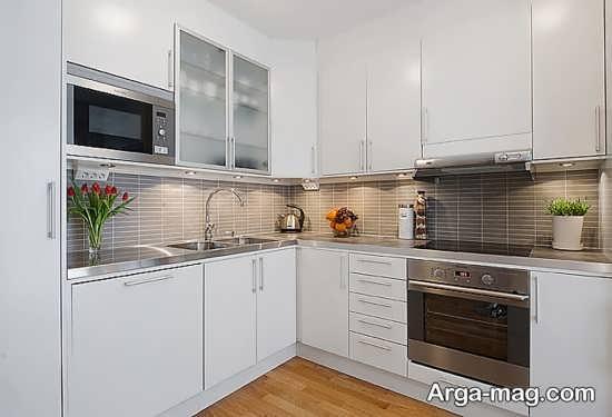 طراحی داخلی آشپزخانه سفید
