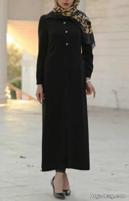 مدل مانتو بلند و مشکی دخترانه