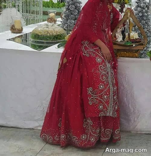لباس لری قرمز زنانه