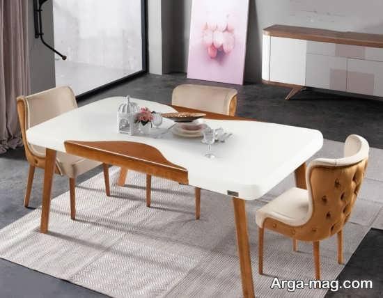 میز ناهار خوری زیبا با طراحی مدرن