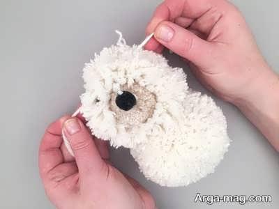 مراحل ساختن عروسک سگ