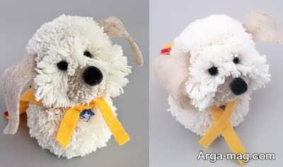 عروسک سگ پشمی