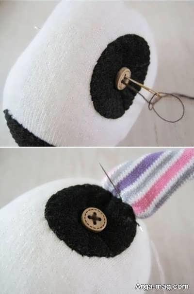 ساخت عروسک سگ فانتزی با جوراب