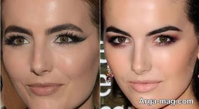 مدل آرایش چشم با پلک افتاده