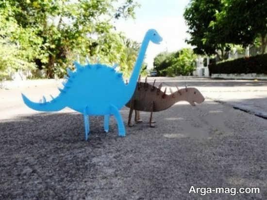کاردستی جالب دایناسور با کارتون