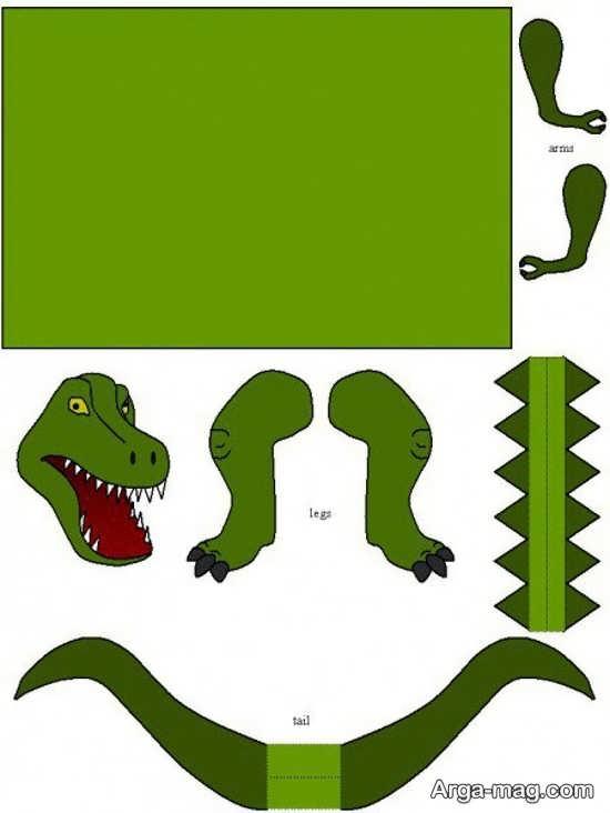 مراحل ساخت دایناسور به عنوان کاردستی
