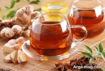 چای زنجبیل خوشمزه