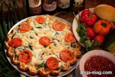 تزیین پیتزا نودل