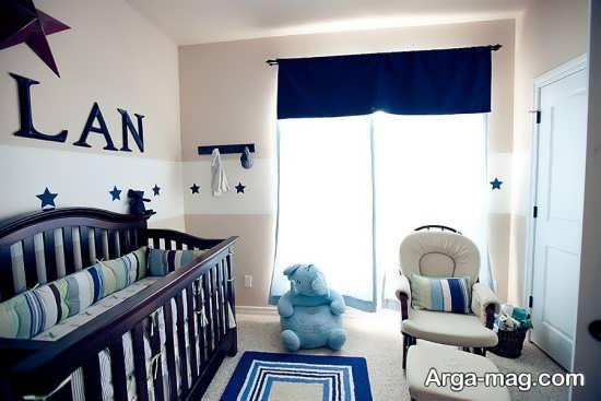 چیدمان متفاوت و زیبای اتاق نوزاد پسر