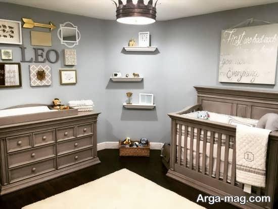 دکوراسیون زیبای اتاق نوزاد پسر