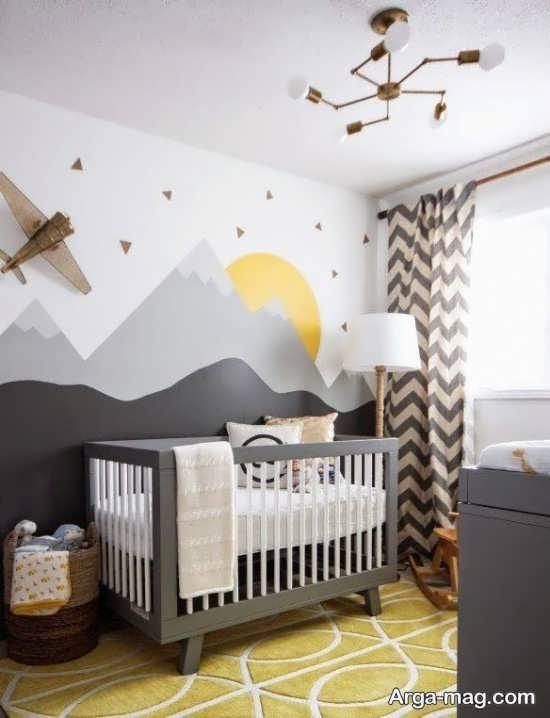 دکوراسیون جذاب اتاق نوزاد پسر