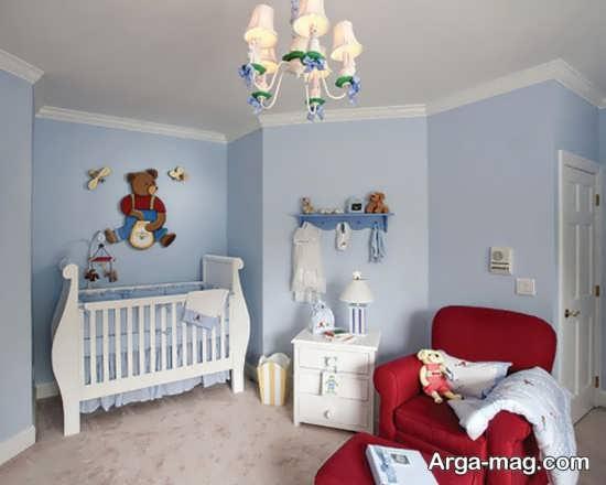 دکوراسیون دوست داشتنی اتاق نوزاد پسر