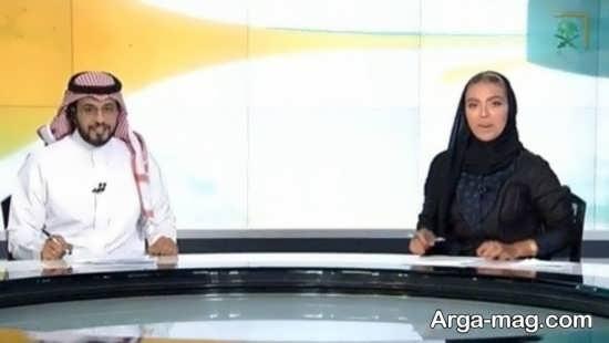 رونمایی از پوشش اولین زن در تلویزیون عربستان
