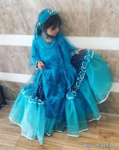 مدل لباس سنتی زیبا و آبی