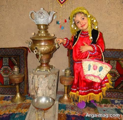 لباس سنتی بچه گانه دخترانه