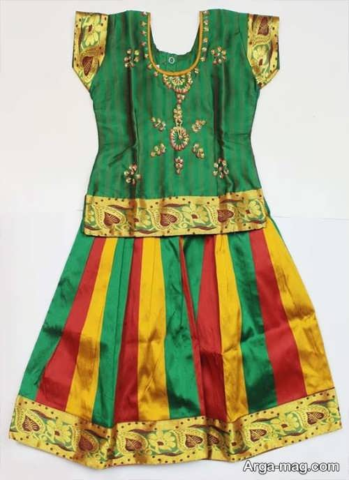 مدل پیراهن سنتی بچه گانه