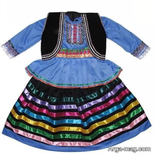 مدل لباس سنتی بچه گانه دخترانه