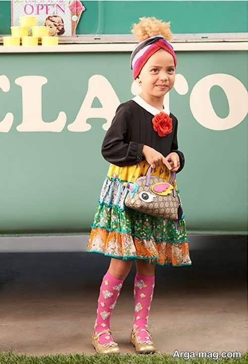 لباس سنتی بچه گانه طرح دار