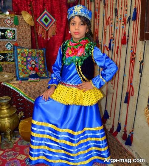 لباس سنتی آبی بچه گانه